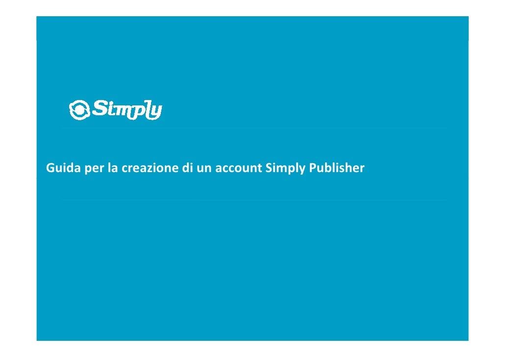 Simply.com Publisher Handbook (Italian release)