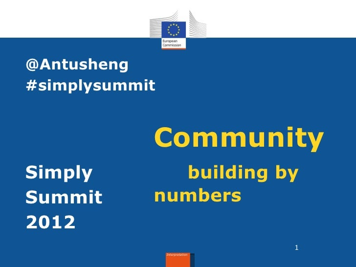 @Antusheng#simplysummit            CommunitySimply        building bySummit      numbers2012                              ...