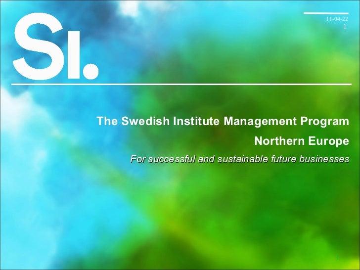 The Swedish Institute Management Program
