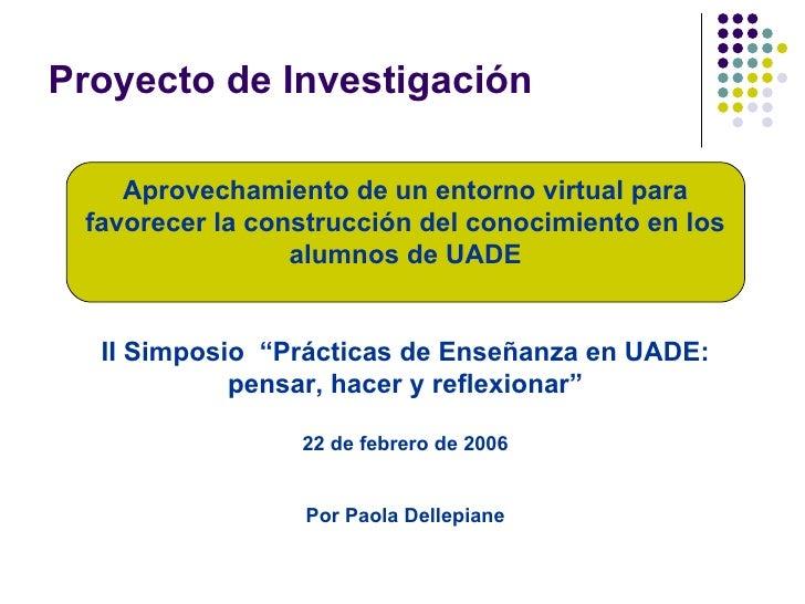 Simposio Uade2006 Paola Dellepiane