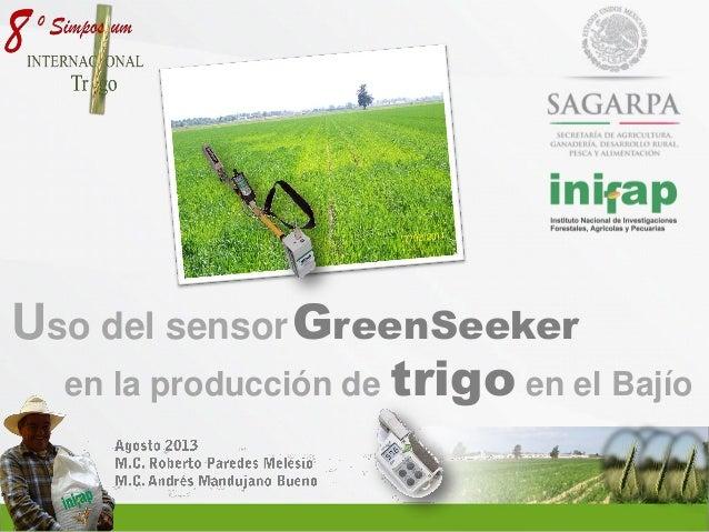 Uso del sensor GreenSeeker en la producción de trigo en el Bajio
