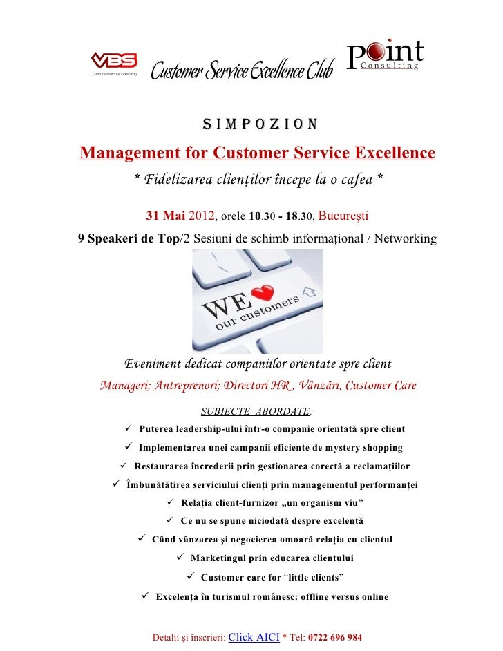 Simpozion   Management For Customer Service Excellence 1