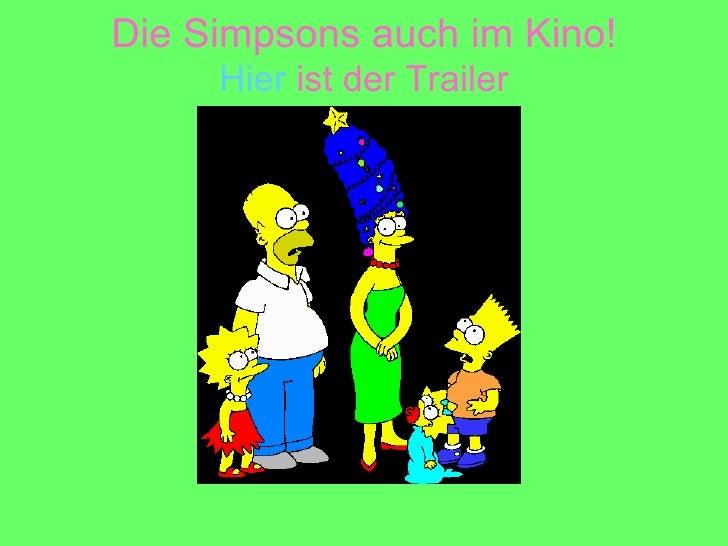 Die Simpsons auch im Kino! Hier  ist der Trailer
