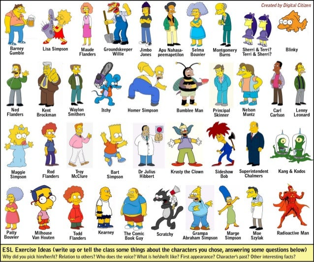 Simpsons esl-efl-exercise