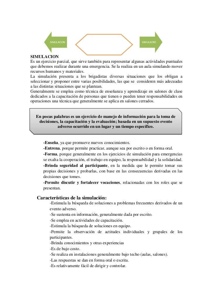 EJECUCION           SIMULACION                                             SIMULACRO                                   DEL...
