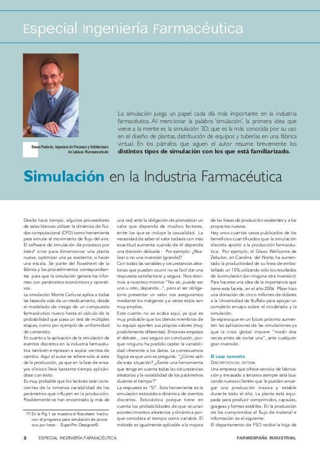 Especial Ingeniería Farmacéutica                                                             La simulación juega un papel ...