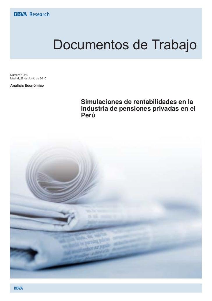 Simulaciones de rentabilidad en la industria de pensiones privadas en el perú
