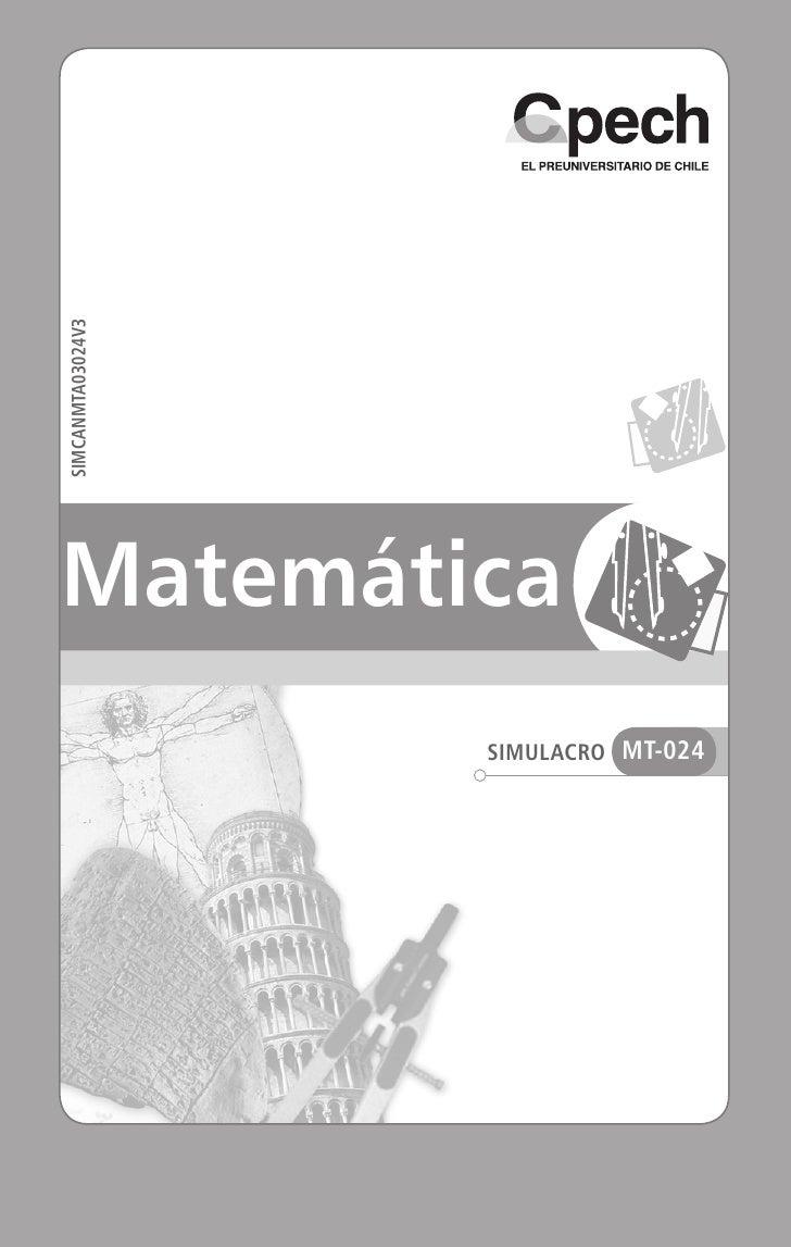SIMEX4LCA02586V1                                 SIMCANMTA03024V3                   MatemáticaSimulacro MT-024