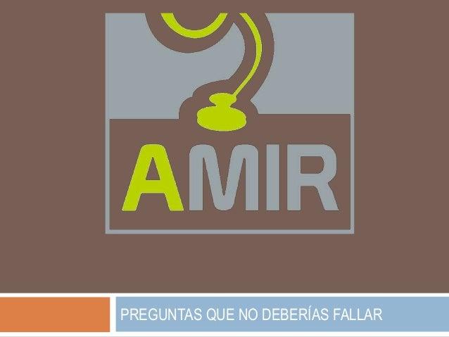PREGUNTAS QUE NO DEBERÍAS FALLAR