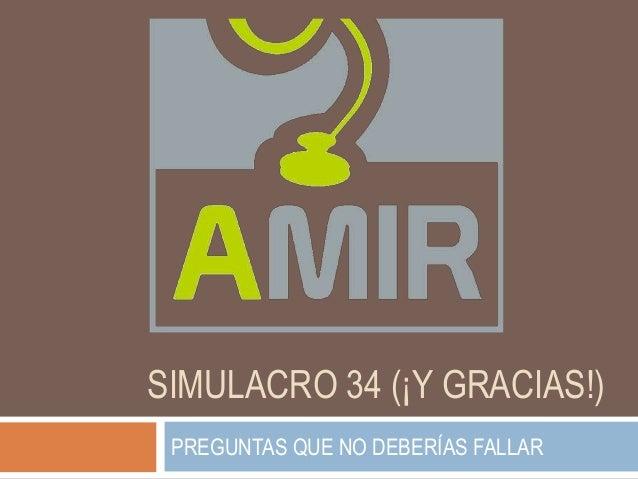 SIMULACRO 34 (¡Y GRACIAS!) PREGUNTAS QUE NO DEBERÍAS FALLAR