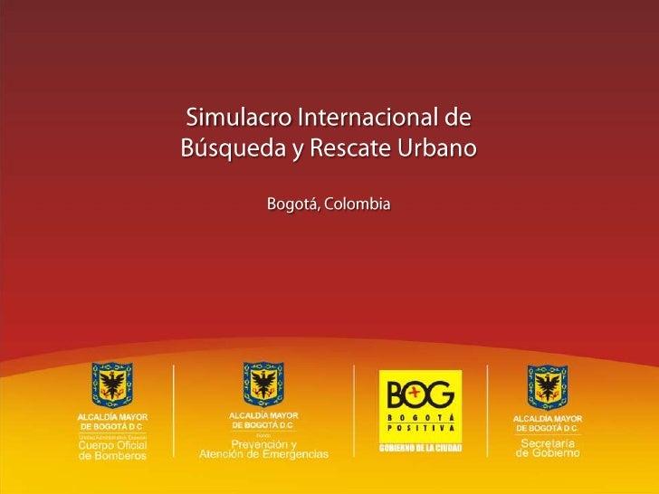 Presentación oficial para el Simulacro Internacional de Emergencias