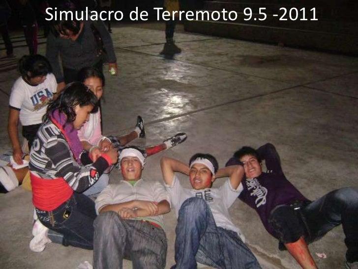 Simulacro de Terremoto 9.5 -2011
