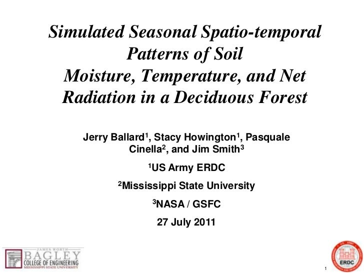 SIMULATED SEASONAL SPATIO-TEMPORAL PATTERNS OF SOIL MOISTURE, TEMPERATURE, AND NET RADIATION IN A DECIDUOUS FOREST.pptx