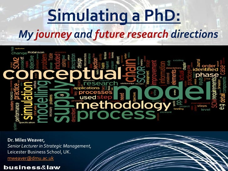 Simulating a PhD: My journey and future research directions