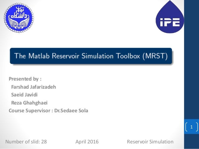 reservoir simulation thesis Production optimization of oil reservoirs - dtu phd thesis efficient numerical methods for simulation and optimization of oil recovery purposes, with exception of.