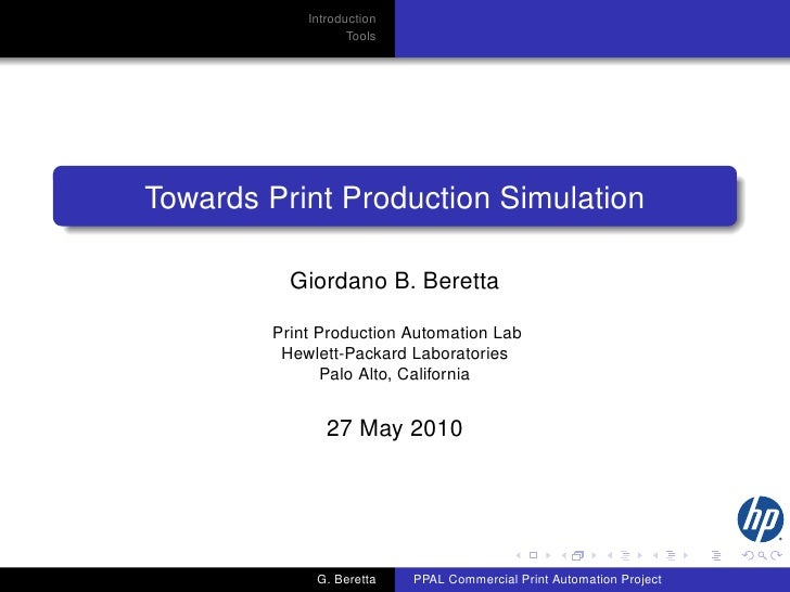 Towards Print Production Simulation