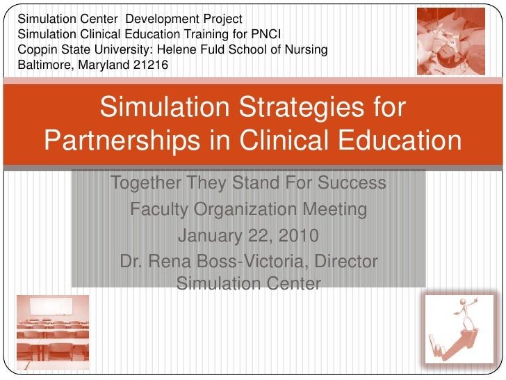 Simulation Center  Development Project<br />Simulation Clinical Education Training for PNCI<br />Coppin State University: ...