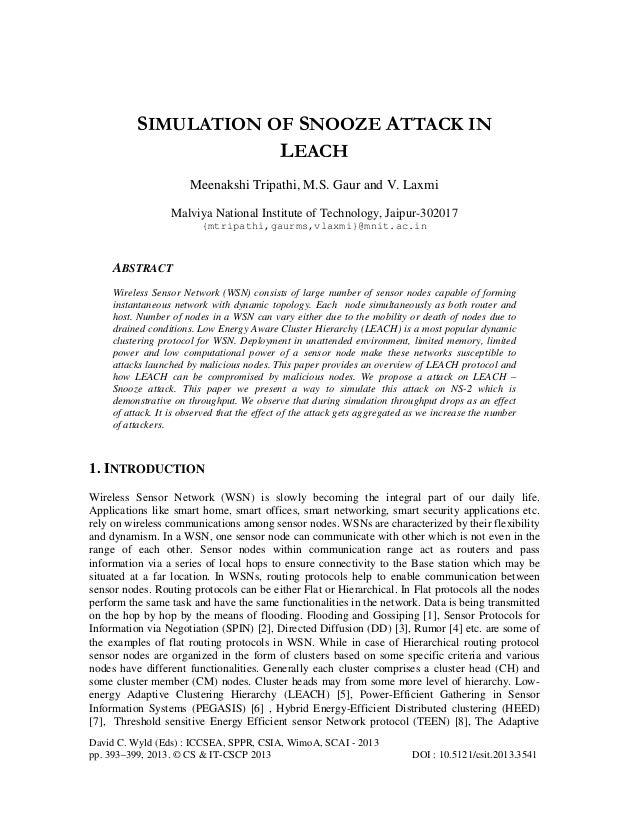 David C. Wyld (Eds) : ICCSEA, SPPR, CSIA, WimoA, SCAI - 2013 pp. 393–399, 2013. © CS & IT-CSCP 2013 DOI : 10.5121/csit.201...