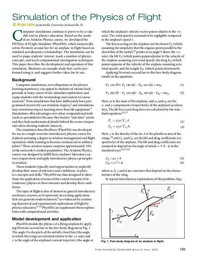 The Physics Teacher ◆ Vol. 51, April 2013 199which the airplane's velocity vector points relative to the +x-axis). The win...