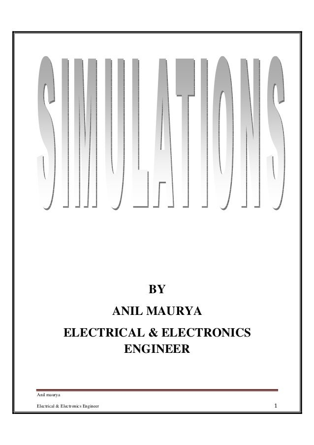 Anil maurya Electrical & Electronics Engineer 1 BY ANIL MAURYA ELECTRICAL & ELECTRONICS ENGINEER