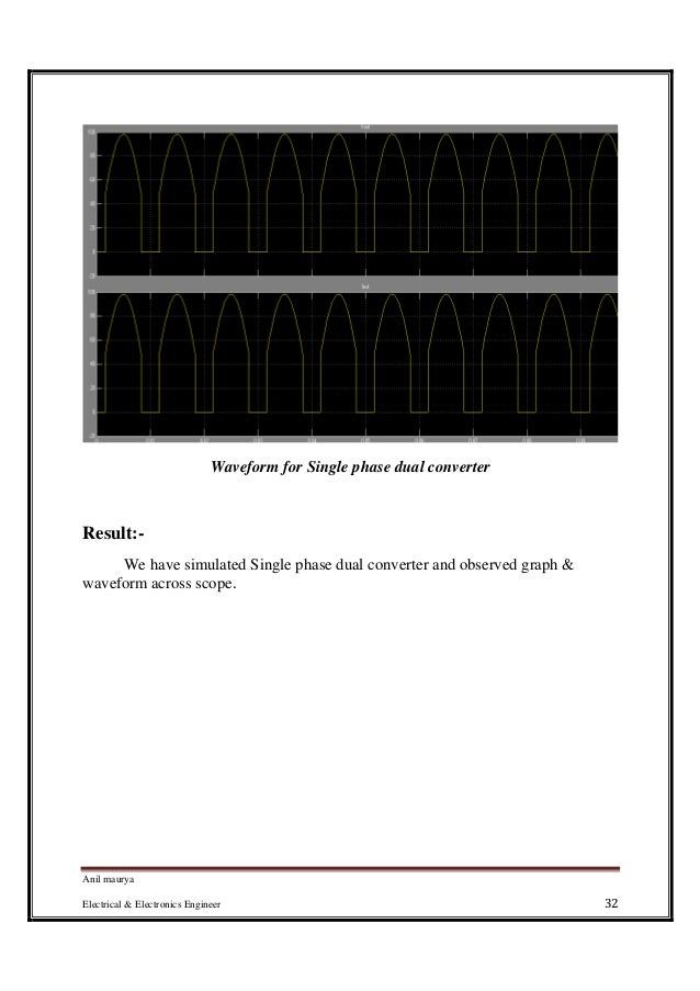 Dual Converter Waveforms Phase Dual Converter And