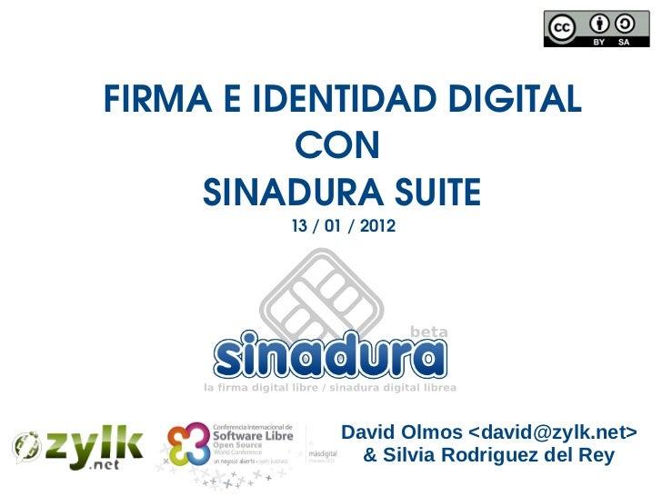 SinaduraOSWC2012