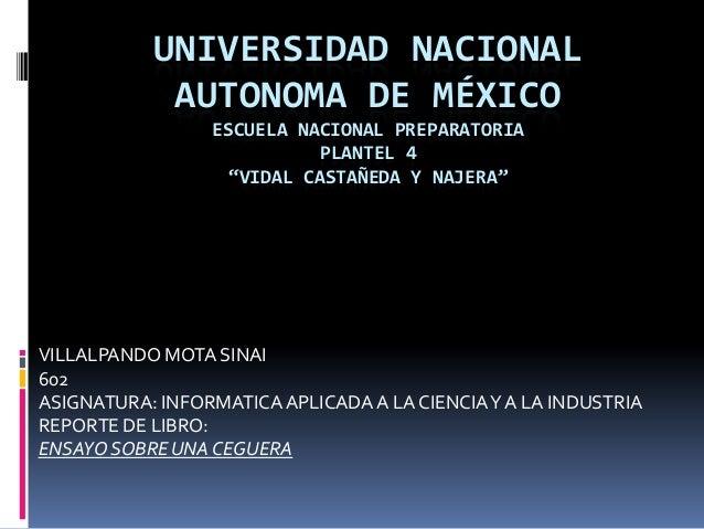UNIVERSIDAD NACIONAL            AUTONOMA DE MÉXICO                 ESCUELA NACIONAL PREPARATORIA                          ...