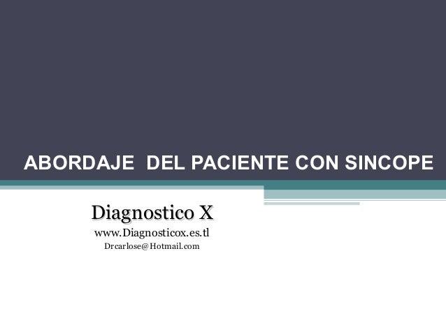 Sincope Dx