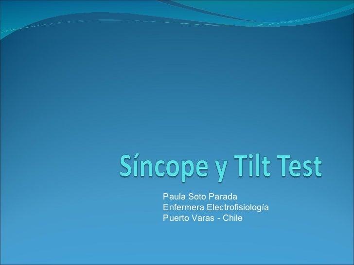 Sincope y Tilt Test