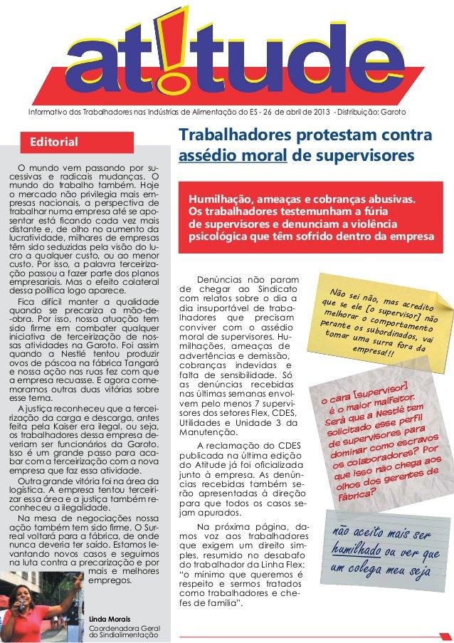 Informativo dos Trabalhadores nas Indústrias de Alimentação do ES - 26 de abril de 2013 - Distribuição: GarotoEditorialLin...