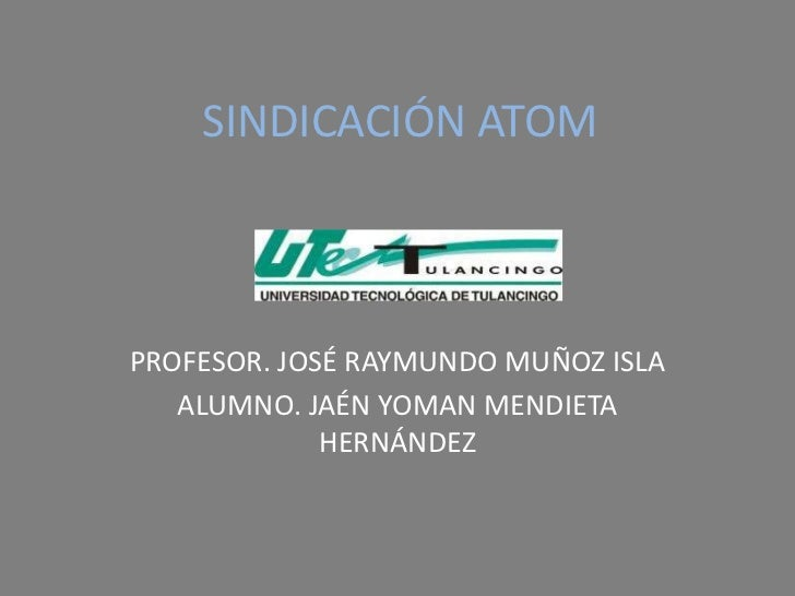 Sindicación atom19