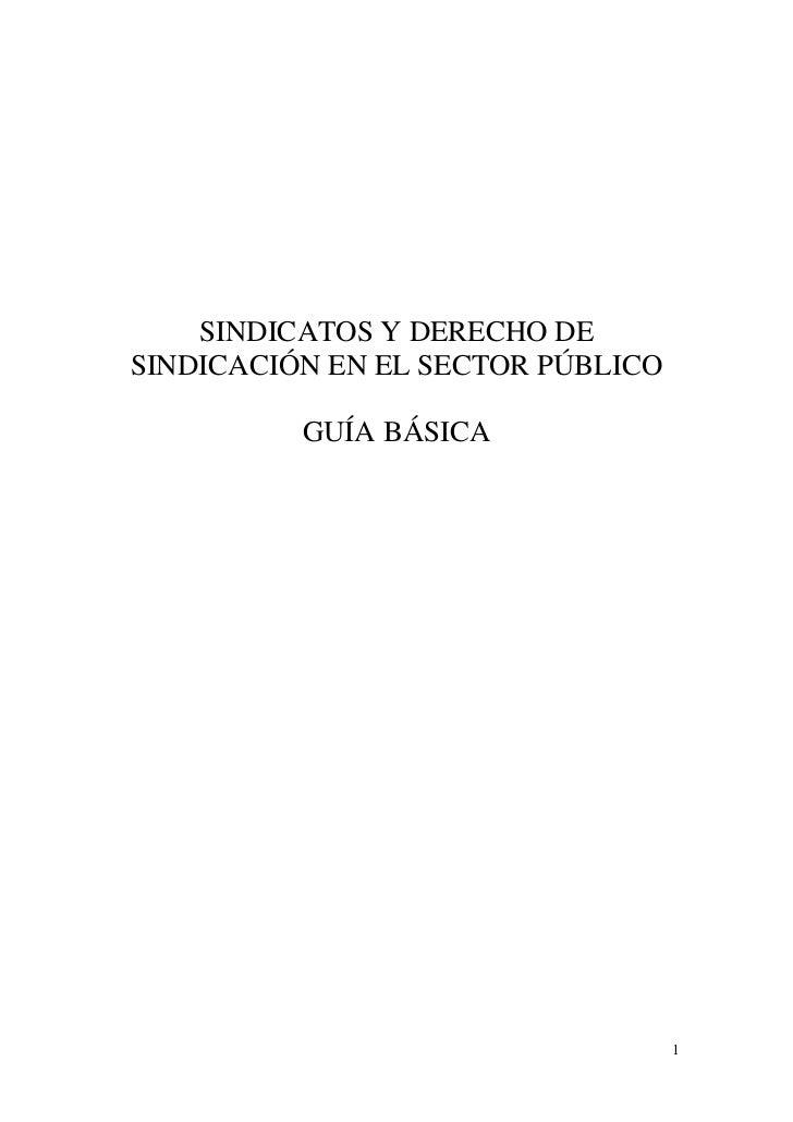 Sindicatos y derecho de sindicación en el sector público
