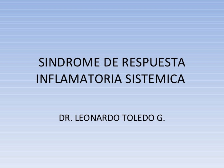 Sindrome De Respuesta Inflamatoria Sistemica