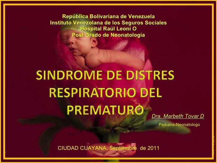 Sindrome de distres respiratorio del prematuro