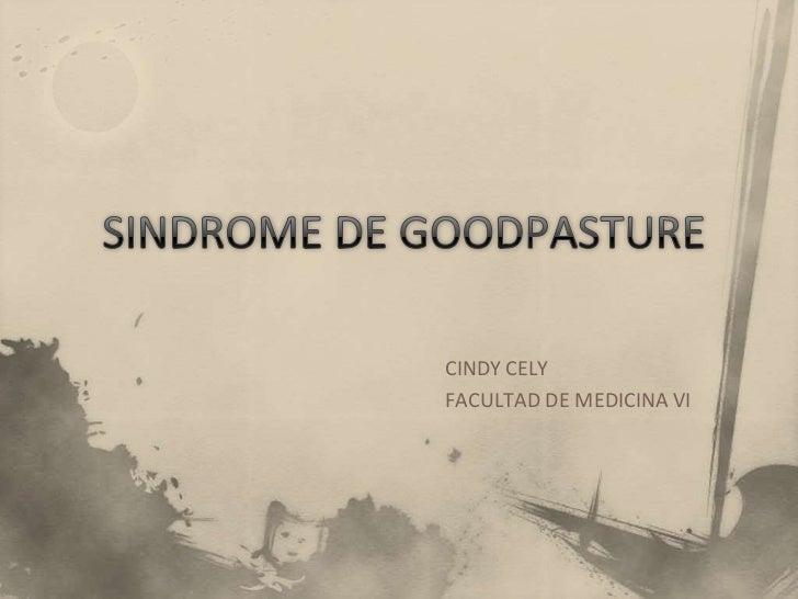 CINDY CELYFACULTAD DE MEDICINA VI