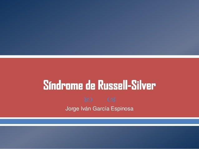 Sindrome de russel silver