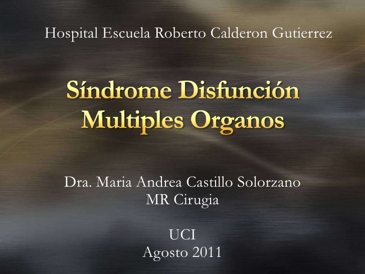 Sindrome disfuncion multiples organos