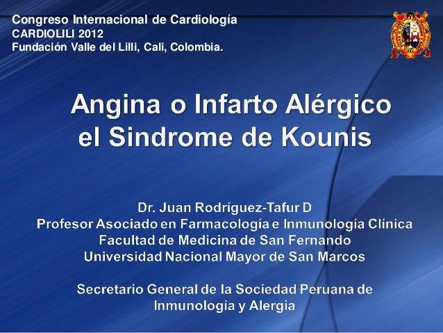 Congreso Internacional de Cardiología CARDIOLILI 2012 Fundación Valle del Lilli, Cali, Colombia.