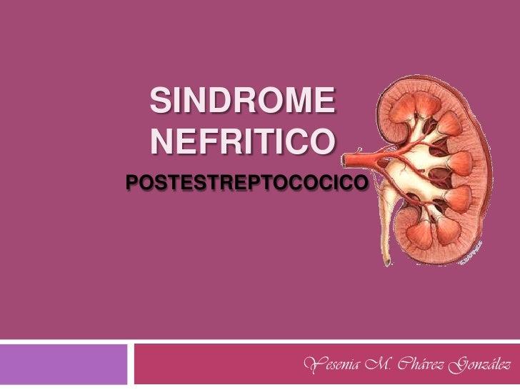 Sindrome nefritico posestreptococico