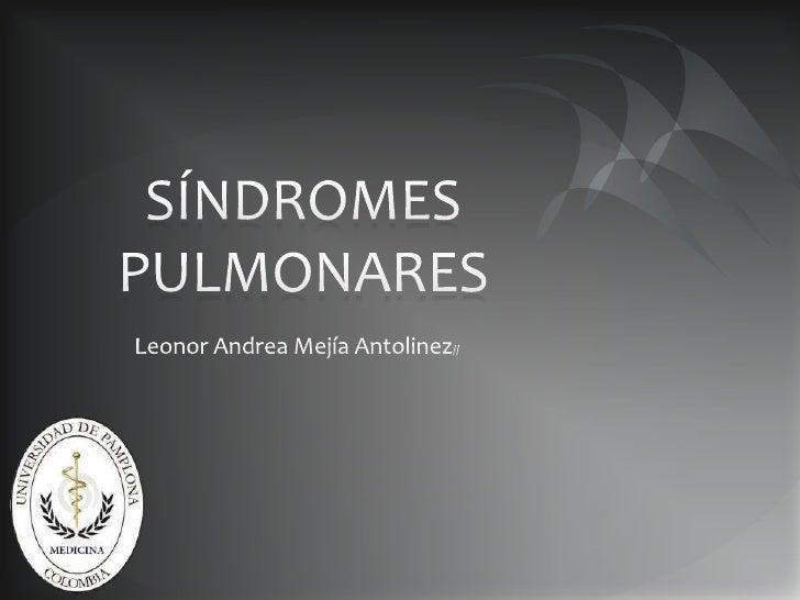 Sindrome pulmonares