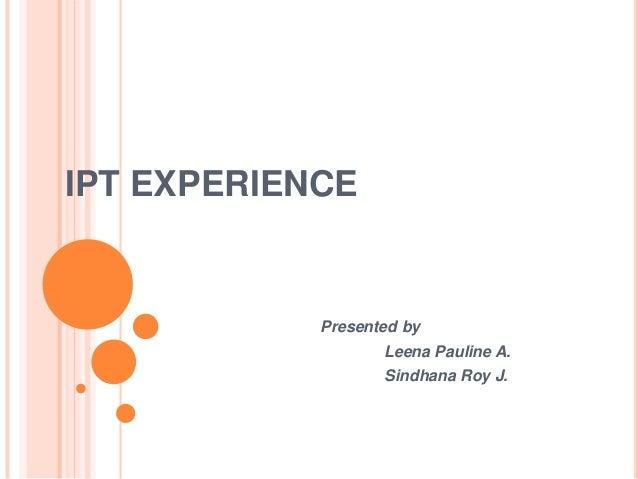 Harbour IPT Experience