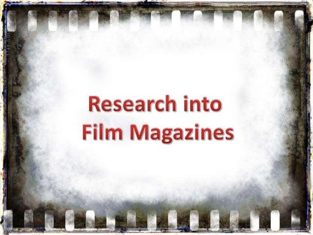 Sinead's film magazine presentation