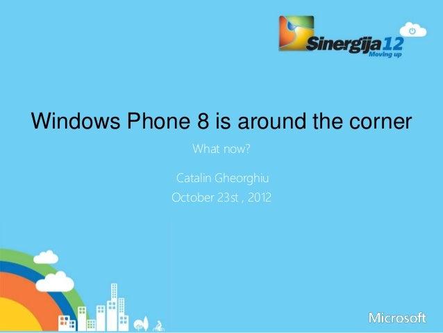 Sinergija 12   Windows Phone is around the corned