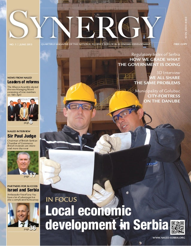 SYNERGY - QUARTERLY MAGAZINE OF THE NATIONAL ALLIANCE FOR LOCAL ECONOMIC DEVELOPMENT