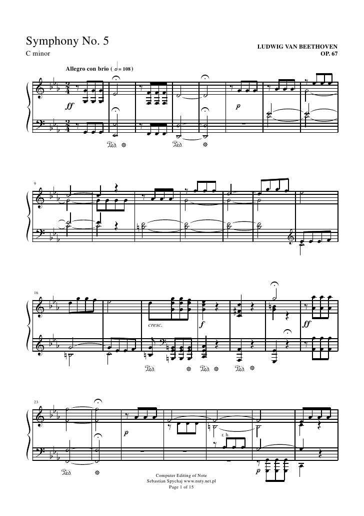 Symphony No. 5                                                                                    LUDWIG VAN BEETHOVEN C m...