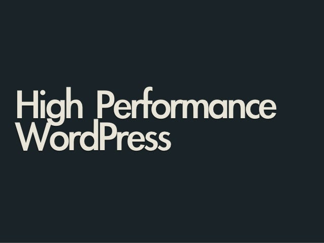High Performance WordPress on AWS