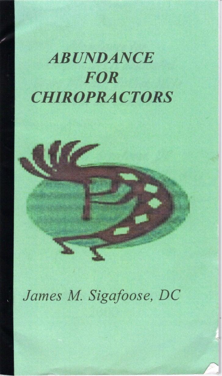 Singafoose. Abundance for Chiropractors