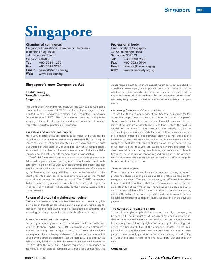 Singapore                   805SingaporeChamber of commerce:                                                    Profession...