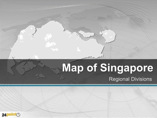 Singapore Map - Editable PowerPoint Template