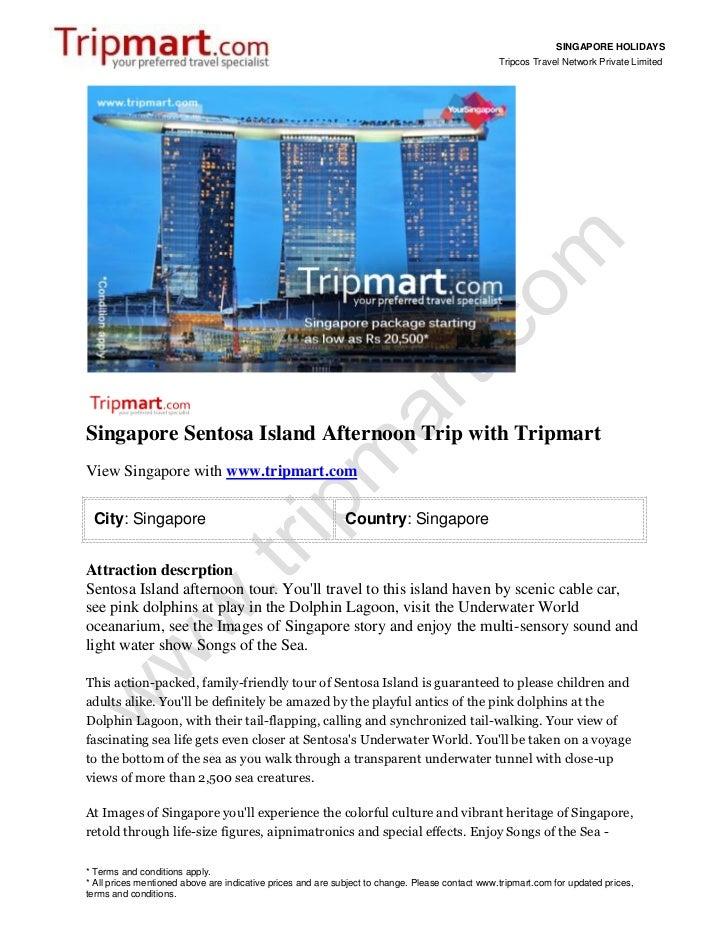 Singapore holidays-afternoon-trip